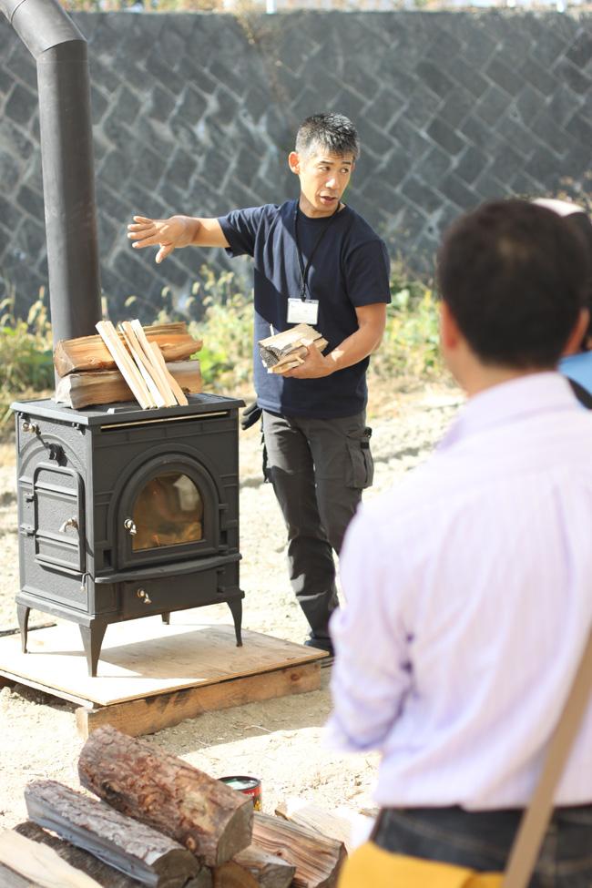 薪ストーブの焚き方講習